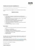 Ausschreibung DHB Praktikum Mitgliederentwicklung