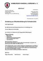EInladung Fortbildung BSA Nord