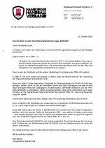 Anschreiben HHV-Durchführungsbestimmungen 2020/21