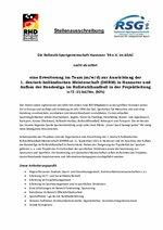 """Stellenausschreibung """"Projektleitung Rollstuhlhandball"""""""