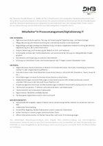 Ausschreibung Prozessmanagement/Digitalisierung IT