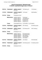 Ablaufplan Jugendpokalendspiele in Esingen