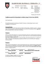 Vorsorgliche Ansetzung der Hamburger Quali für die wA