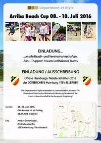 Einladung Arriba Beach Cup 2016