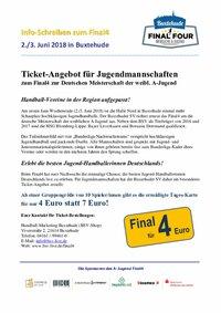 Final4 wA-Jugend in Buxtehude - Ticketangebot - Mannschaften