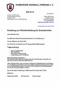 BSA Nord - Fortbildung 01.18