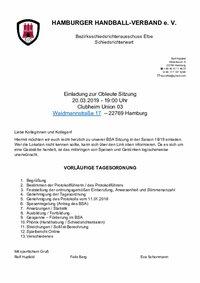 BSA Elbe - Einladung Obleutetreffen 2019