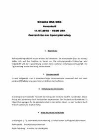 Sitzung BSA Elbe - Protokoll