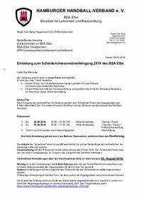 Elbe Anwärter 08/2019