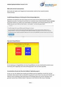 Infoblatt SpielberichtOnline 3.1.8