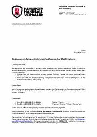 Einladung Anwärterlehrgang BSA Pinneberg 2019
