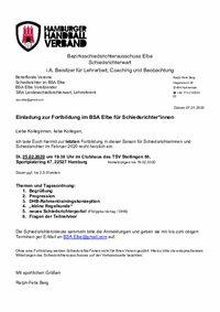 BSA Elbe: Fortbildung im Februar 2020