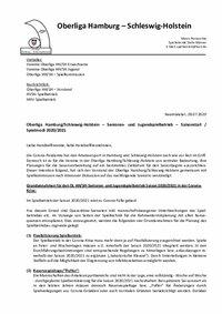 Saisonstart und Spielmodi Oberliga Hamburg/Schleswig-Holstein - Erwachsene und Jugend