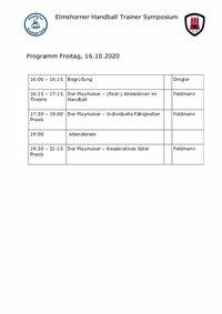 Zeitraster EHT-Symposium 2020