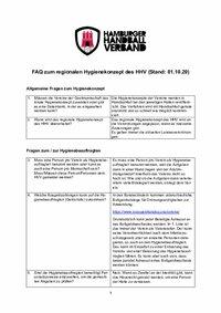 FAQ HHV vom 01.10.2020