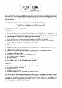 Ausschreibung Projektleitung Mitgliederentwicklung