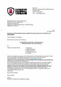 Einladung Fortbildung BSA Ost am 24.09.2021