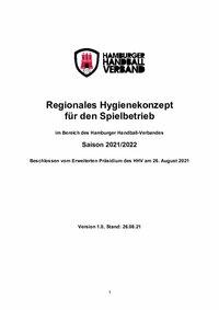 Regionales Hygienekonzept Saison 2021/2022