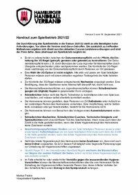 Handout zum Spielbetrieb 2021/22 - Version 2 vom 16.09.2021