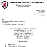 Einladung Schiedsrichterversammlung 2015