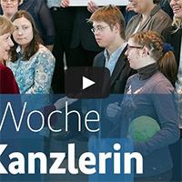 Die Woche der Kanzlerin - Freiwurf Hamburg bei Angela Merkel
